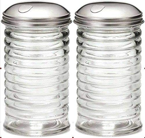 Tablecraft 12 oz Beehive Sugar Pourer (Sugar Shaker - Set of 2) -