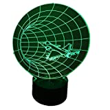 Time Airplane Shape LED Night Lamp 3D Effect With USB Table Lamp for Kids Bedroom Decoration Aircraft Bulbing Lamp
