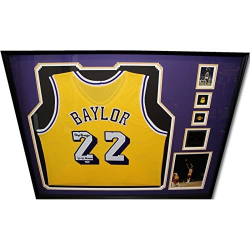 256812ce143c 70%OFF Elgin Baylor Signed Autograph Jersey Custom Framed LA Lakers 71-72  Champ