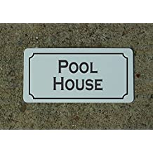 Pool House Vintage Style Metal Sign Decor