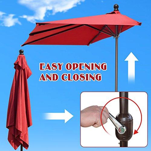Strong Camel 8 2 X 4 Rectangle Patio Half Umbrella