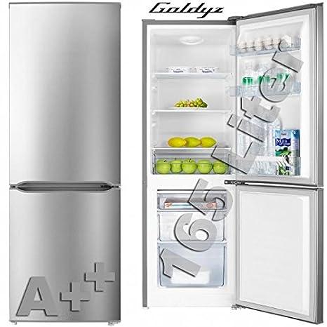 goldyz Diseño nevera/congelador frigorífico nevera Combi acero ...