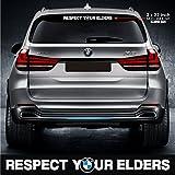 respect your elders sticker decal motorsports performance made in germany drift racing turbo window windscreen sunvisor