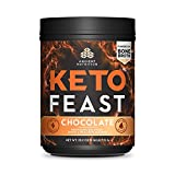 Ancient Nutrition KetoFEAST Powder, Chocolate, 15 Servings - Keto Diet Meal Replacement with Ketogenic Superfoods for Ketosis and Energy