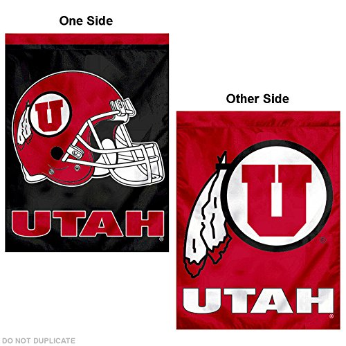 nners Co. University of Utah Football Helmet Double Sided House Flag ()