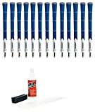 Lamkin Z5 Standard Blue/White - 13Piece Golf Grip Kit (with Tape, Solvent, Vise Clamp)