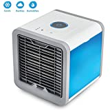 TSAR003 Portable Desktop USB Mini Air Conditioner Fan With 3 Speeds And LED Colorful Night Light For Office Home Outdoor Travel Cooler Fan, Decoration For Room Desk