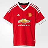adidas Kids Manchester United Home Soccer Jersey 2015/16 (Red) Youth Large