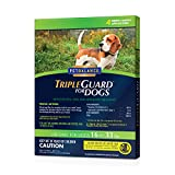 Pet Balance TripleGuard Flea & Tick Drops for Medium Dogs, 16-33 lbs, 4 Month Supply