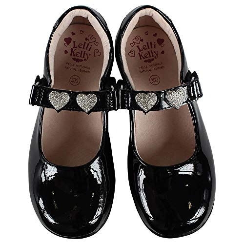 DB01 Lelli UK Black Shoes Ceri School 28 LK8352 10 G Patent Width Kelly UUSEqAxO