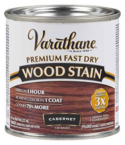 Varathane 262035 Premium Fast Dry Wood Stain, 1/2 Pint, Cabernet