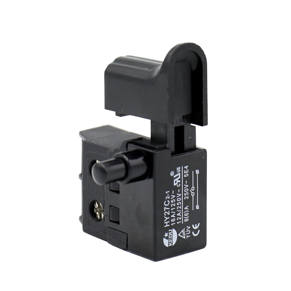 KEDU HY27C2-1 125/250V 16/12/8(6) A Dustproof Trigger Switch Electric Tool Switches for Electrics Saw Electric Hammer Cutting Machine etc Lock ON 2 Pack (HY27C2-1)
