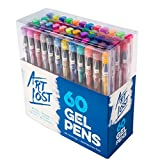 #9: Gel Ink Pens 60-Unique-Colors - Medium-Point (0.8 mm) - Set of 60