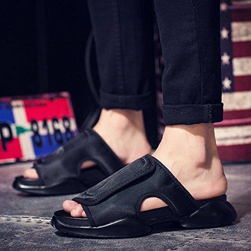 Xing Lin Sandalias De Hombre Verano Sandalias De Herradura Hombres Tendencia Zapatillas Zapatillas Zapatos Calzado De Playa black
