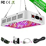 HELESIN 1000w LED Grow Light with Bloom & Veg Switch and Daisy Chained Design, Full Spectrum Led Grow Lamps for Indoor Greenhouse Hydroponic Plants and Flowers