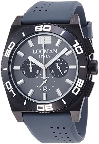 LOCMAN watch stealth Mare quartz chronograph rotating bezel Men's 0212 0212BKKA-GYKSIA Men's [regular imported goods]