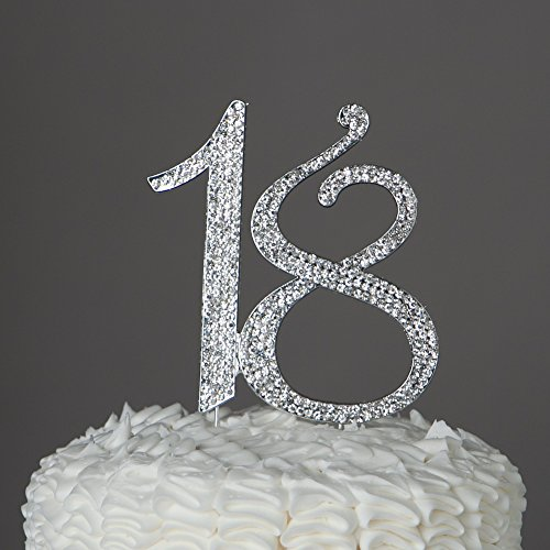 18-Cake-Topper-18th-Birthday-Party-Supplies-Decoration-Ideas-Silver