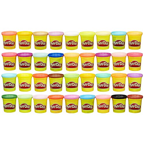 (Play-Doh Modeling Compound 36-Pack Case of Colors, Non-Toxic, Assorted Colors, 3-Ounce Cans (Amazon)