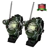 Kids Walkie Talkies, Two-way Radios Rechargeable Long Range Walky Talky for Children, Cool Outdoor Toys Gifts For Girls/Boys, Camouflage (Pair)