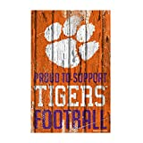WinCraft Clemson Tigers Official NCAA Sign 11x17 Wood by 796042