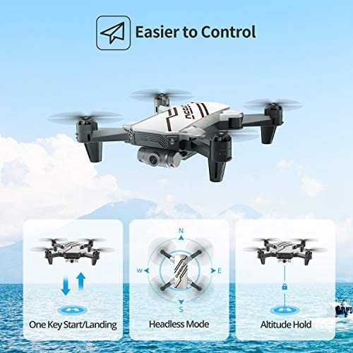DEERC D20 Mini Drone for Kids with 720P HD FPV Camera Remote Control Toys Gifts for Boys Girls with Altitude Hold, Headless Mode, One Key Start, Tap Fly, Speed Adjustment, 3D Flips 2 Batteries 51nAlt 2BQGgL
