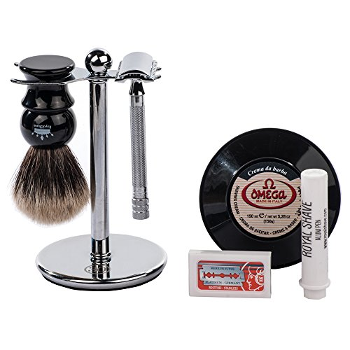 merkur 23c 6 piece classic shaving gift set wet shave kit my beard shop the best beard care. Black Bedroom Furniture Sets. Home Design Ideas