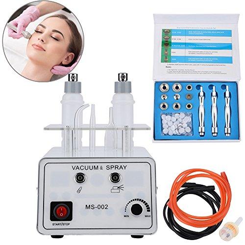 Oxygen Moisturizing (3 in 1 Diamond Microdermabrasion With Oxygen Moisturizing Sprayer Beauty Machine for Removal Wrinkle Blackhead Spray Oil Control Skin Rejuvenation Water Replenishing)