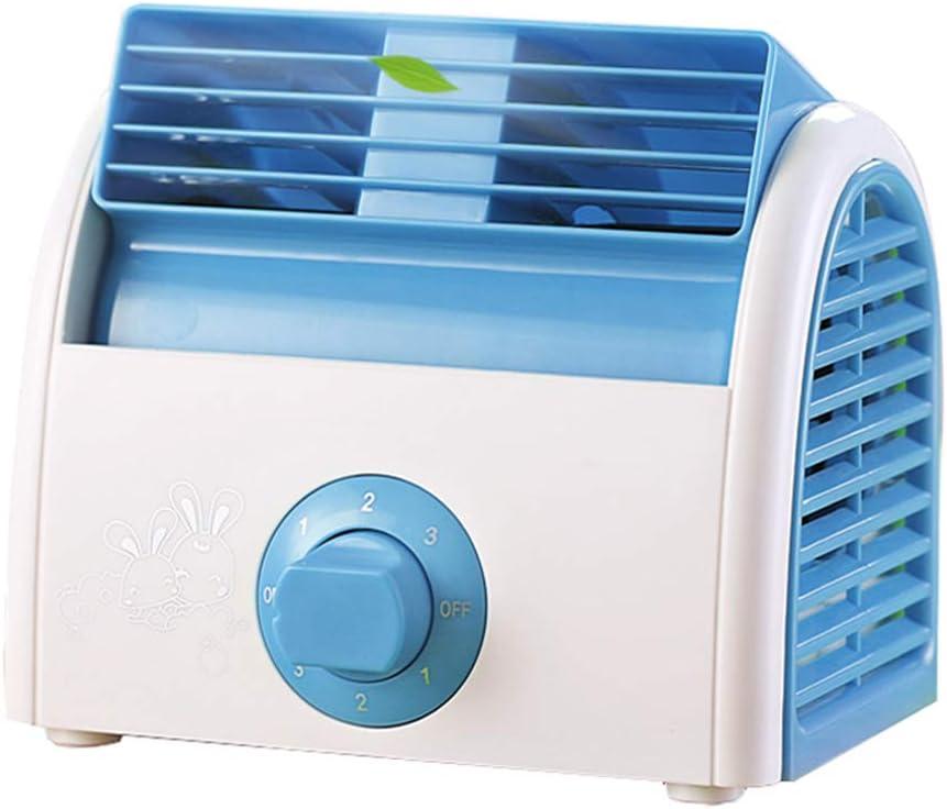 SHMB Mini Ventilador sin Hojas de turbina, Salida de Aire Ajustable a 45 °, 3 Tipos de Viento, Mini Ventilador portátil para Mini Cama de Dormitorio de Estudiantes
