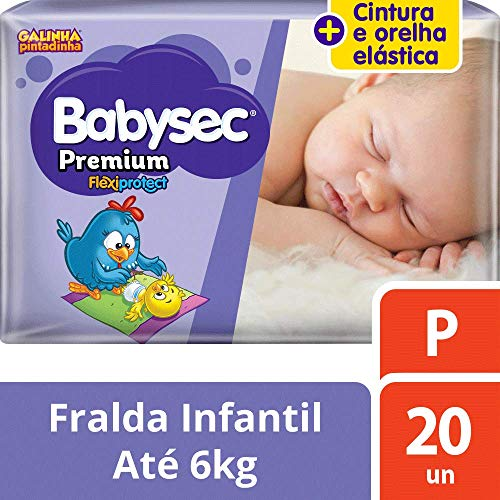 Fralda Babysec Galinha Pintadinha Premium P 20 Unids, Babysec, P
