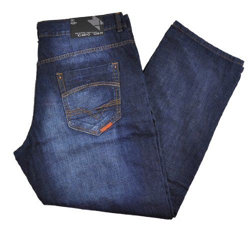 Rocawear Mens Dark Denim Times Jeans Big & Tall (46B) ()
