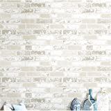 Retro 3D PVC Modern Extra Thick White Brick Wallpaper