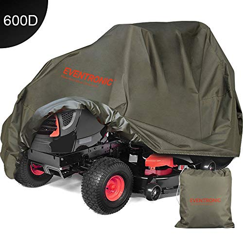 Eventronic Riding Lawn Mower Cover, Riding Lawn Tractor Cover 600D Heavy Duty Durable (L76 xW47 xH47)-Green (Lawn Riding Mower Snapper)
