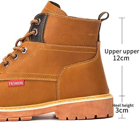 Scarpe antinfortunistiche Uomo Lace Up del Martin stivali caldi impermeabili Snow Boots antisdrucciolevoli escursionismo a piedi scarpe scarpe da esterno, tattico Booties, impermeabile militare Stival