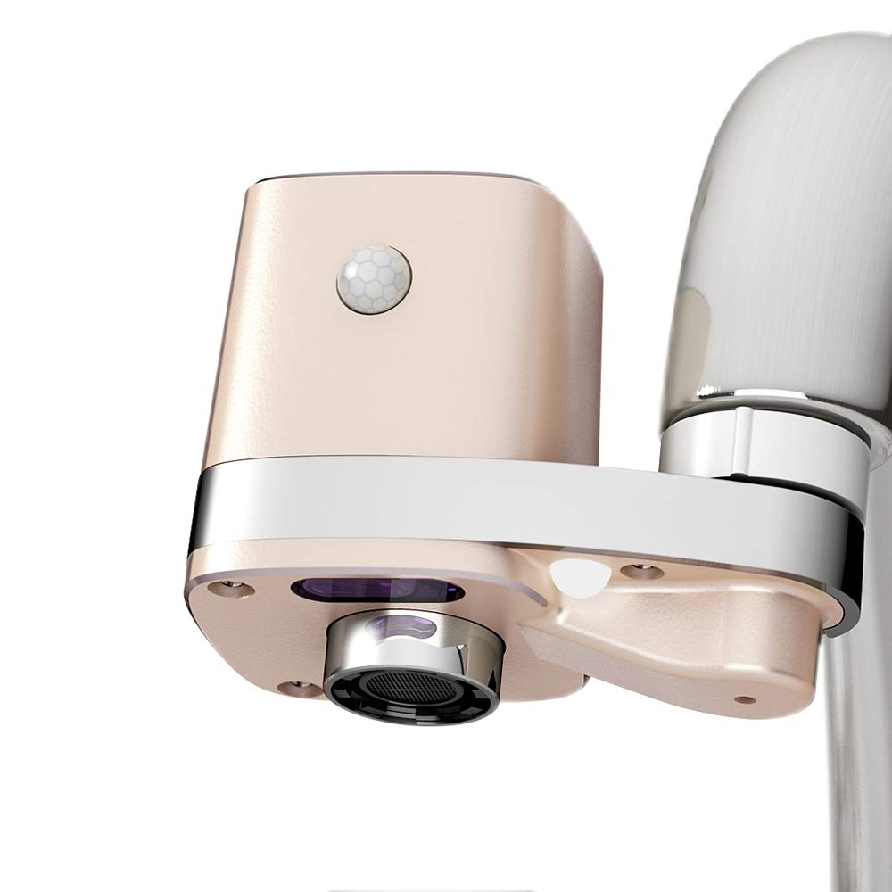 Techo Autowater B, Automatic Touchless Bathroom Faucet Adapter, Motion Sensor Adapter for Bathroom Faucets by TECHO