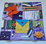 GeriGuard Solutions Memory Loss Fidget Quilt Alzheimer's Blanket Dementia Toy Lavender & Yellow -Spring Colors