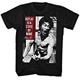 Bruce Lee Chinese Martial Arts Icon Adult T-Shirt Tee Defeat is a State