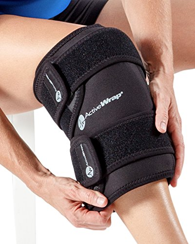 ActiveWrap Knee Wrap Right or Left Knee, Small/Medium, Black