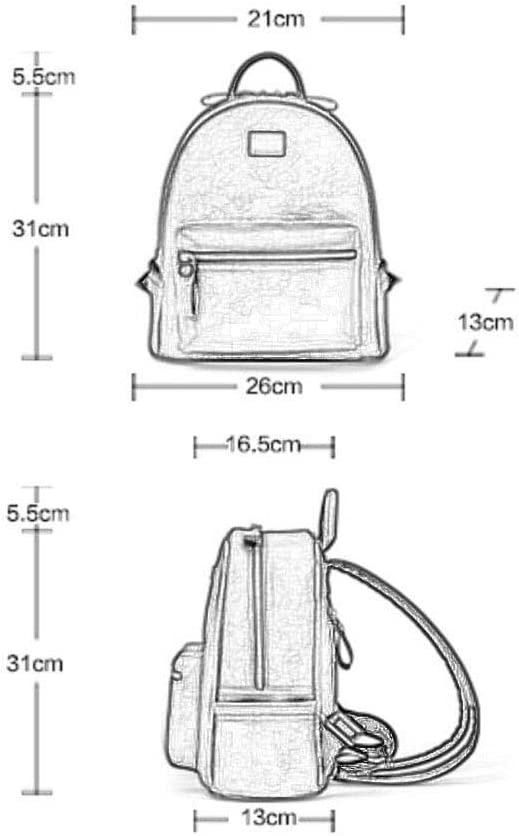 Backpack Female Leather Simple British College Wind Bag Anti-Theft Water-Proof Large Capacity Travel Backpack Multipurpose Daypacks
