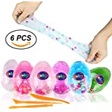 Jeicy Soft Egg Slime Colorful Fluffy Slime Scented Stress Relief Toy Sludge Toys (6 Pack)