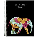#10: Tools4Wisdom Planner 2018-2019 8.5-x-11 Hardcover - Dated July 2018 to June 2019 Academic Year Calendar - Daily Weekly Monthly Yearly Goals Journal Agenda - Personal Organizer w Stickers Accessories