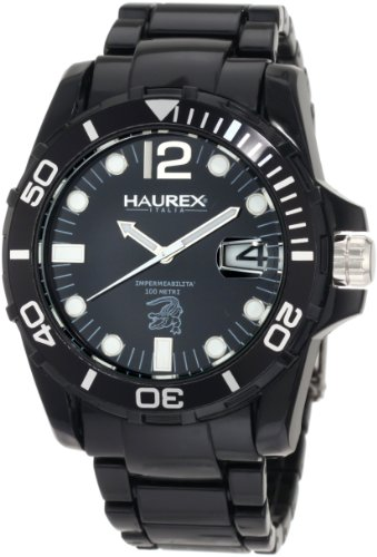 Haurex Italy Men's N7354UNN Caimano Date Black Dial Plastic Sport Watch - Haurex Black Watch