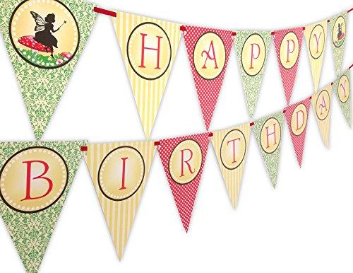 Woodland Fairy Happy Birthday Banner (Fairy Birthday)