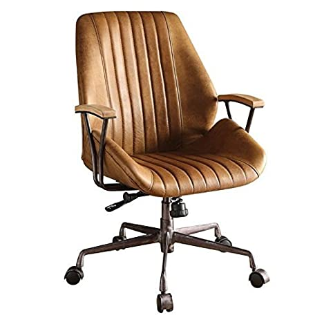 Admirable Acme Hamilton Top Grain Leather Office Chair In Coffee Leather Creativecarmelina Interior Chair Design Creativecarmelinacom