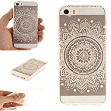NEXCURIO iPhone 5S / SE / 5 Case Clear Soft Silicone Shockproof Scratch Resistant Protective Cover for Apple iPhone 5S / SE / 5 (Pattern #4)