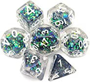 Haxtec 7PCS DND Dice Set Polyhedral D&D Dice for Dungeons and Dragons Pathfinder T