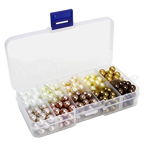 BEADNOVA 8mm 250pc Tiny Satin Luster Imitation Pearl Beads for jewelry making - 8 Mm Satin Beads