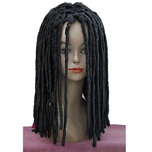 Lydell Twist Hair Crotchet Braids Wigs Synthetic Dreadlocks Braids Hair Wig (1# Black) -