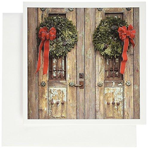 3dRose Antique door, Canyon road, Santa Fe, New Mexico - US32 JMR0953 - Julien McRoberts - Greeting Cards, 6 x 6 inches, set of 12 (Mexico Antique)
