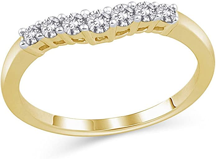 1//10 CT D//VVS1 Round Diamond Twist Contour Wedding Band REAL 14K Gold