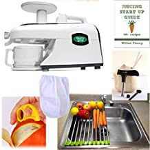 220 Volt Power- Not for USA - Tribest Green Star GSE-5000 + PACK3 Accessory Package - Elite Jumbo Twin Gear Auger Juice Extractor